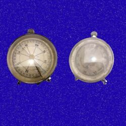 Double Dial Patent Silver Boer War Campaign Barometer And Compass 1900