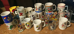 24 Mickey Mouse Cups/mugs Mickey Mouse Disney Fantasia Christmas Minnie Time