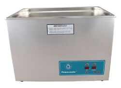 New Crest Powersonic P2600d 132khz 7 Gallon Ultrasonic Heated Cleaner And Basket