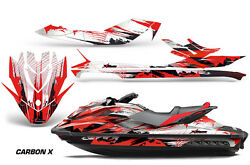 Jet Ski Graphics Kit Decal Wrap For Sea Doo Gti/gtr/gts Hd 2011-2018 Carbonx Red