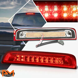 For 14-20 Chevy Silverado Dual Rows Led 3rd Tail Brake Light W/cargo Lamp Red