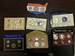 Seven 7 Proof And Uncirculated Sets And Coins Us Mint 1963, 1964, 1972 Etc