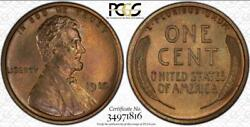 1910 Lincoln Cent   Pcgs Pr65 Brown   Proof Wheat Cent Moa34971816