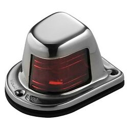 Attwood Marine Stainless Steel Sidelight 1 Nautical Mile Red Port - 66319r7