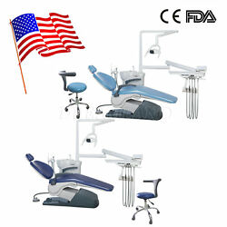 Dental Unit Chair Computer Controlled w Stool Syring A1 Door to Door Tax Free