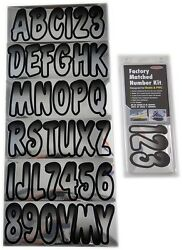 Hardline Factory Matched Letters And Numbers - Series 200 - Chrome/black Chbkg200