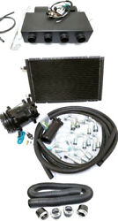 Universal Underdash Ac Air Conditioning Heat Cool Evaporator Kit + Hoses And Vents