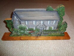 Hand Painted Wood Cut Out Antique Mission House Stockbridge Mass Circa 1739 Summ
