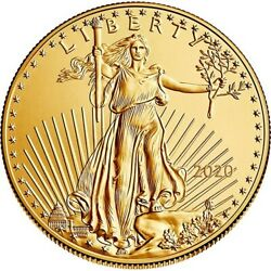 One Hundred (100) One Ounce 2019 US Gold Eagles - Uncirculated - FREE shipping