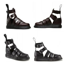 Mens Cut Out Closed Toe Buckle High Top Moccasins Heel Roman Gladiator Sandals