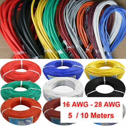 14awg28awg Flexible Stranded Silicone Wire Tinned Copper Line 11 Colors 5m/10m