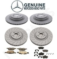 For Mercedes W166 Gl550 Front And Rear Disc Brake Rotors And Pads Genuine Kit