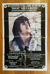 ITALIAN STALLION '78 27x41 1-sheet movie poster Sylvester Rocky Stallone Rated X