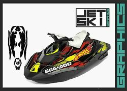 Seadoo Spark Trixx Graphics Kit Decals Stickers Wrap Set For 2up 3up Jet Ski