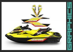Seadoo Rxt Rxtx Is As Rs 255 260 300 Graphics Kit Decals Set For 2009-2017