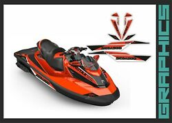 Seadoo Rxt Rxtx Is As Rs 255 260 300 Graphics Kit Stickers Set For 2009-2017