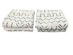 African Black And White Mud Cloth Textiles Mali 42 By 58 Pair