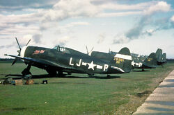 P-47 THUNDERBOLTS OF THE 359TH FIGHTER GROUP WWII 12x18 SILVER HALIDE PHOTO PRIN