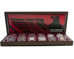 Nazi Germany A Boxed Collection Of 12 Coins 6 Of Them Has The The Nazi Swastika