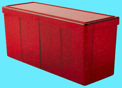 Dragon Shield Four Compartment Ruby Red Card Storage Box New Case Dividers Ccg