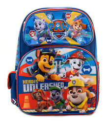 Paw Patrol Backpack Boys School Book Bag Travel Luggage Little Doggies 3 size $24.95