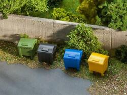 Faller Ho Scale Scenery Accessory Kit Garbage Bins/trash Cans Containers 8-pack