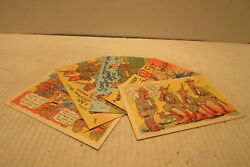 5 Different World War 2 Army Comics Unused Post Cards Curt Teich And Co. Wwii