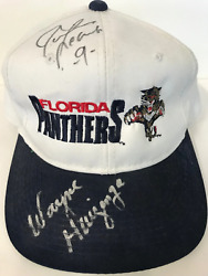 Wayne Huizenga & Jamie Leach Signed Florida Panthers Hat
