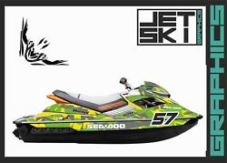 Seadoo Rxp Rxpx 2012-2020 Graphics Set Decals Sticker Kit Vinyl For Jet Ski Wrap
