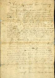 1709 Document Dorchester Boston Ma Wales Creek Wharf Establishment James Blake