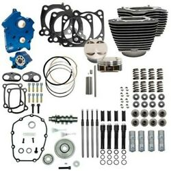 Sands 107 To 124 Water Cooled Power Package Gear Drive Black Harley Touring M8