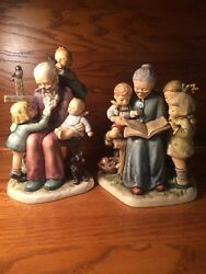 hummel figurine 621 At Grandpa's And 620 A Story From Grandma Limited Ed Club