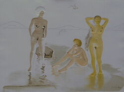 Dali Three Graces of Cova d'or (With Woman's Head) H/S Etching Double Sided RARE