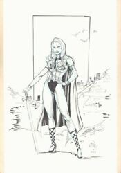 Valkyrie Full Figure Commission - 2003 Signed Art By Ethan Van Sciver