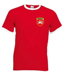 Leyton Orient Fc Retro Football Team Shield Crest T-shirt - All Sizes Available