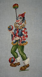 Twinkleand039s Needlepoint Gallery - Vintage Clowning Juggling Balls 18x30 Portugal