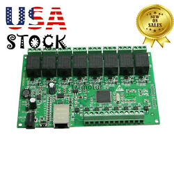 8 Channel Network Ip Relay Web Relay Dual Control Ethernet Rj45 Interface Usa