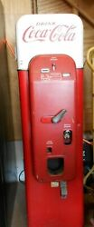 Antique 1950 Authentic Small Coca-cola Vending Machine 6528 Vmc-44 Pick Up Only