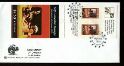 1995 Centenary Of Cinema 4.50 Stamp Booklet Pane Wesley Fdc