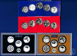 2019 Pdss Bu Silver And Clad Proof Quarter Set-p D From Mint Sets-p D S S