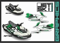Seadoo Spark Trixx 2up 3up Graphics Decals Kit For Stickers Set Watercraft Part