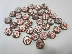 Vintage Lot Of Coke King Size Bottle Caps And Reg. Sights Of The World
