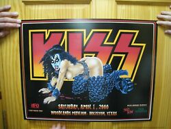 Kiss Poster Texas 2000 Skid Row Ted Nugent Sexy Woman With Gene Simmons Head