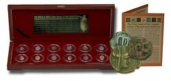 Biblical Holy Land Box Of 12 Ancient Judaea Coins From The Time Of Jesus 323-bc