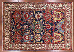 Fine Serapi Hand Knotted Oriental Wool Area Rug 6and039 X 9and039 - Q2348