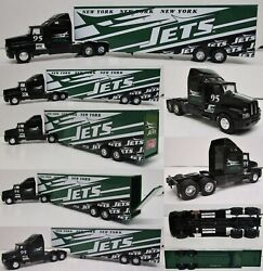 New York Jets Tractor Trailer Kenworth Truck Large Metal Die Cast Scale 164