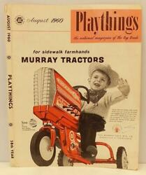 Murray Pedal Car Ad 3 Original '60 Playthings Mag Cover Only, Farm Toy Tractors