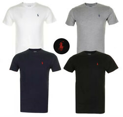 Polo Ralph Lauren Men#x27;s T Shirt Crew Neck Slim Fit Short Sleeve Logo Tee Shirt $16.95