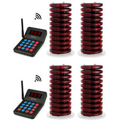 Retekess T119 Wireless Restaurant Clinic Paging Queuing System 40coaster Pagers
