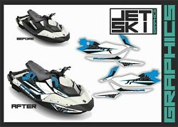 Seadoo Spark Trixx 2up 3up Graphics Decals Kit Stickers Set For Watercraft Part